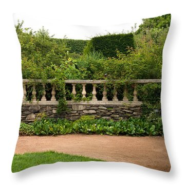 Chicago Botanic Garden Scene Throw Pillow