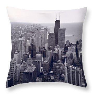Chicago Bw Throw Pillow by Steve Gadomski