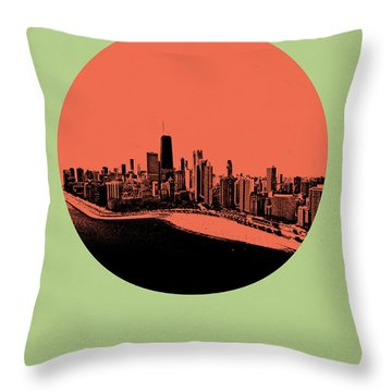 Chicago Circle Poster 1 Throw Pillow
