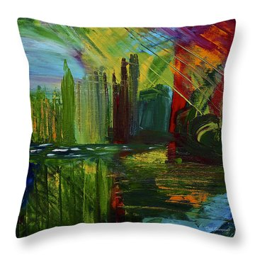 Chicago City Scape Throw Pillow