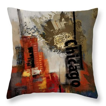 Chicago Collage Throw Pillow by Corporate Art Task Force