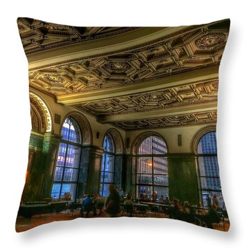 Chicago Cultural Center Hall Throw Pillow