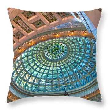 Chicago Cultural Center Tiffany Dome Throw Pillow