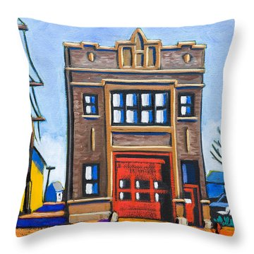 Chicago Fire Station Throw Pillow