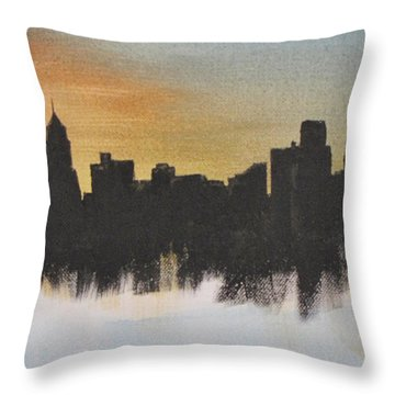 Throw Pillow featuring the painting Chicago by Gary Smith