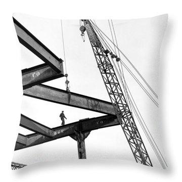 Chicago High Rise Construction Throw Pillow