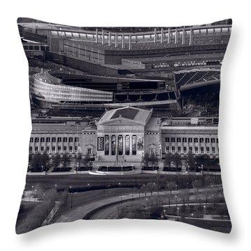 Chicago Icons Bw Throw Pillow