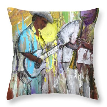 Chicago Jam Throw Pillow by Keith Thue