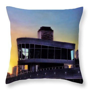 Throw Pillow featuring the photograph Chicago Lock Tower by John Hansen