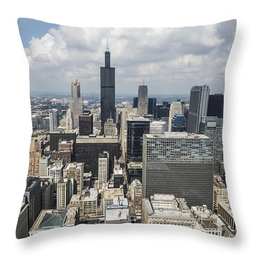 Chicago Loop Aerial Throw Pillow