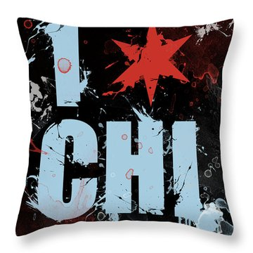 Chicago Love Throw Pillow