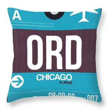 Chicago Luggage Poster 1 Throw Pillow