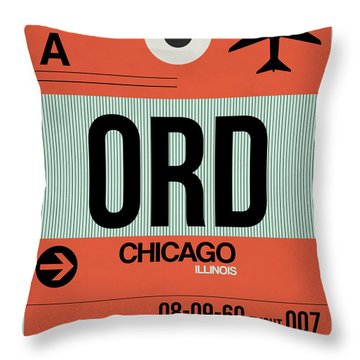 Chicago Luggage Poster 2 Throw Pillow