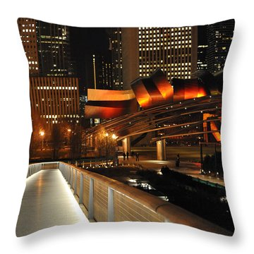 Chicago Millenium Park Throw Pillow by Steve Archbold