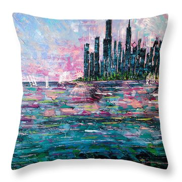 Chicago Morning - Sold Throw Pillow