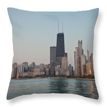 Chicago Morning Throw Pillow