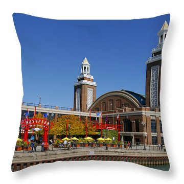 Chicago Navy Pier Headhouse Throw Pillow by Christine Till