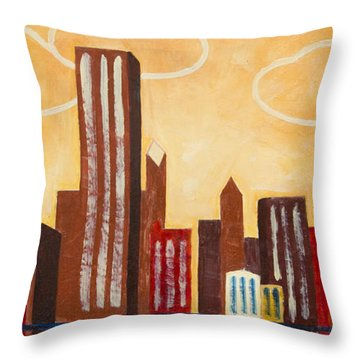 Chicago River I Throw Pillow