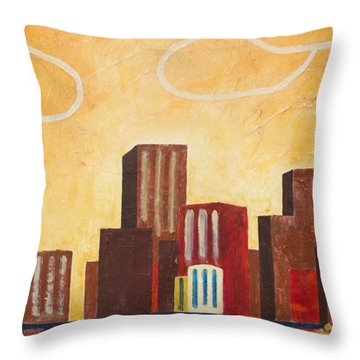 Chicago River II Throw Pillow