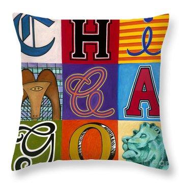 Chicago Sculptures Throw Pillow by Carla Bank