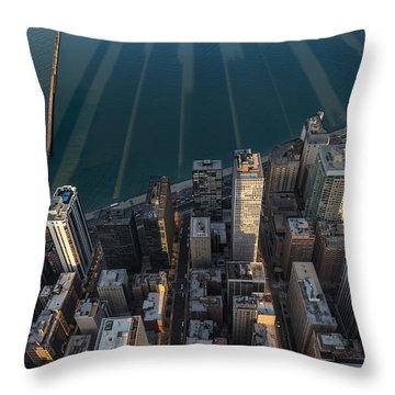 Chicago Shadows Throw Pillow by Steve Gadomski