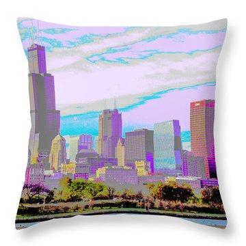 Chicago Skyline 2014 Throw Pillow