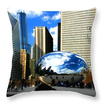 Chicago Skyline Bean Throw Pillow