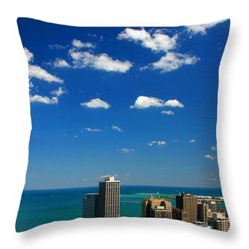 Chicago Skyline Big Sky Lake Throw Pillow