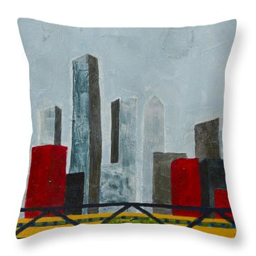 Chicago Skyline II Throw Pillow