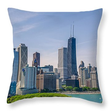 Chicago Skyline North View Throw Pillow