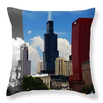 Chicago Skyline Sears Tower Throw Pillow