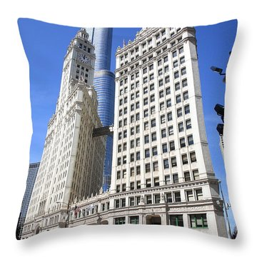 Chicago Skyscrapers Throw Pillow by Frank Romeo