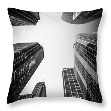 Chicago Skyscrapers In Black And White Throw Pillow
