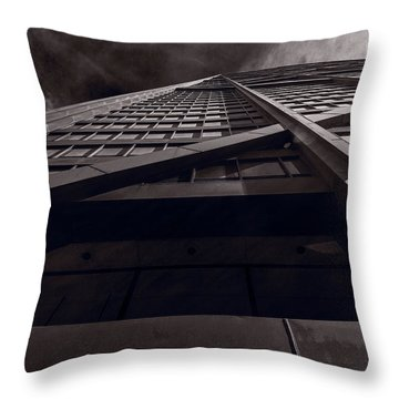 Chicago Structure Bw Throw Pillow