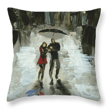 Chicago Two Throw Pillow by Luis  Navarro