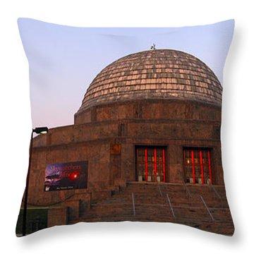 Chicago's Adler Planetarium Throw Pillow by Adam Romanowicz