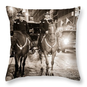 Chicago's Finest Throw Pillow by Melinda Ledsome