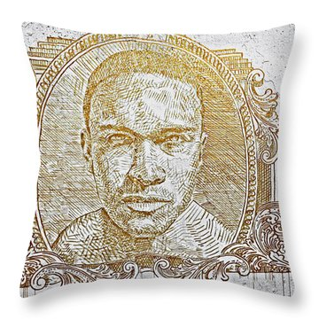 Chicago's Graffiti Art And Street Art Throw Pillow by Christine Till
