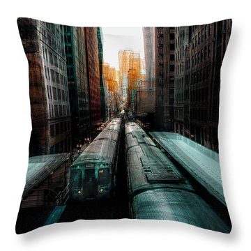Train Station Throw Pillows