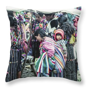 Throw Pillow featuring the photograph Chichi Market by Tina Manley