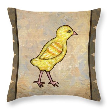 Chick One Throw Pillow by Linda Mears