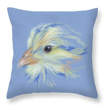 Chick - Plymouth Barred Rock Throw Pillow