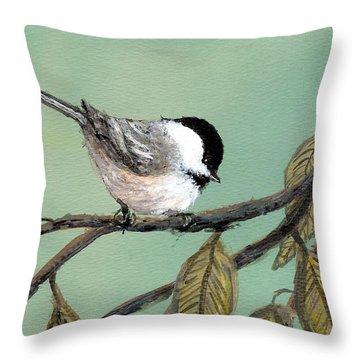 Chickadee Set 10 - Bird 1 Throw Pillow