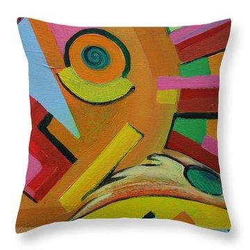 Chicken Cog Throw Pillow