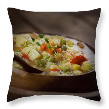 Stewed Tomatoes Throw Pillows
