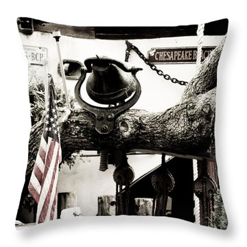 Chick's Beach Marina Throw Pillow
