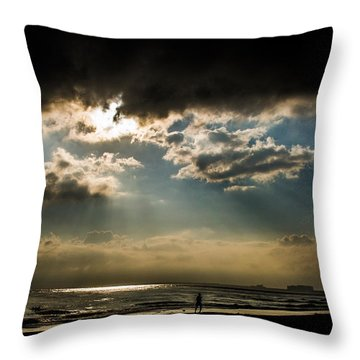Chick's Beach Morning Throw Pillow