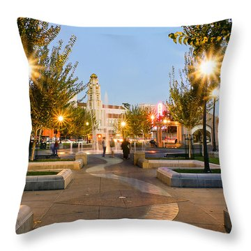 Chico City Plaza Vertical Throw Pillow