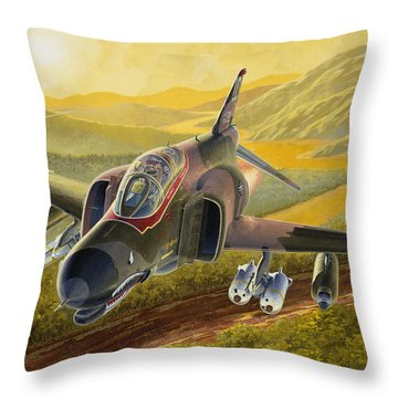 F-4 Throw Pillows