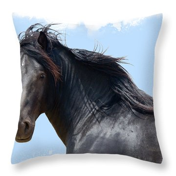 Chief - Windy Portrait Series 3 Throw Pillow